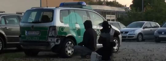 polizei graffiti