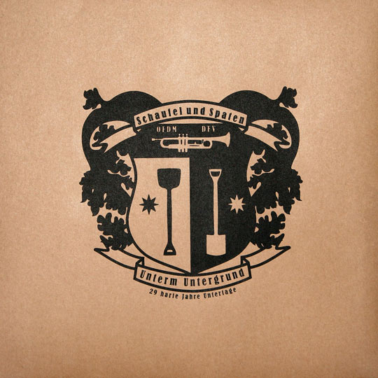 logo wappen schaufel und spaten