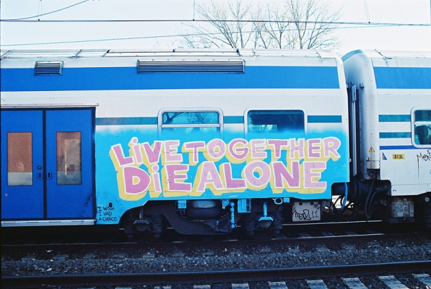 live together die alone graffiti